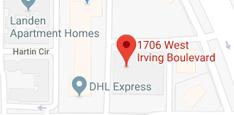 Google map of Irving Gymnastics